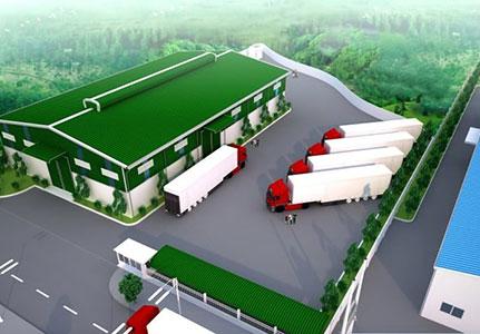 dự án nhà thép tiền chế nhà kho chứa gạo campuchia
