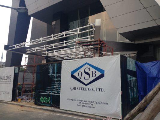 QSB STEEL thi công phần mái Pv Gas Tower